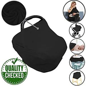 Car Seat Nursing Breastfeeding Cover, Thick Cozy Jersey Carseat Canopy Cover for Sale in Altamonte Springs, FL