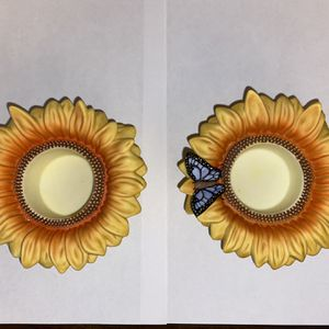Candle Part-lite Sunflower Holders (pair) for Sale in Los Angeles, CA