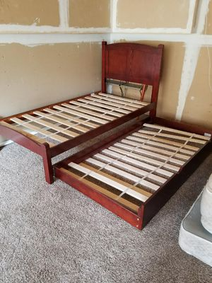 Twin Bed and Trundle for Sale in Fresno, CA