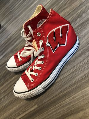 University of Wisconsin Converse men's size 8 for Sale in Vernon, WI