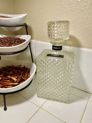 Vintage Alcohol Crystal Glass Bottle 60s Vibes for Sale in Los Angeles, CA
