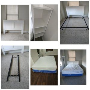 Headboard , Adjustable Metal Frame And Mattress for Sale in Jersey City, NJ