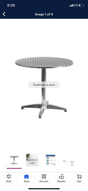 Flash Furniture 31.5'' Round Aluminum Indoor-Outdoor Table with Base for Sale in South Gate, CA