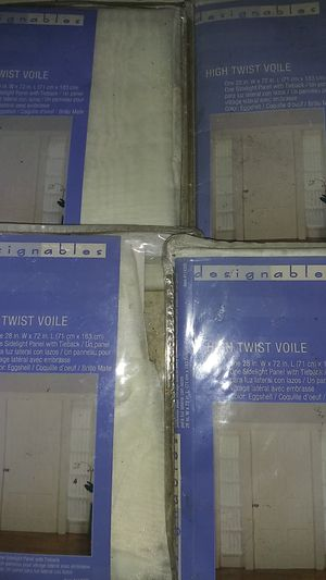 4 high twist voile. For 2 door entrance s for Sale in Fairfield, CA