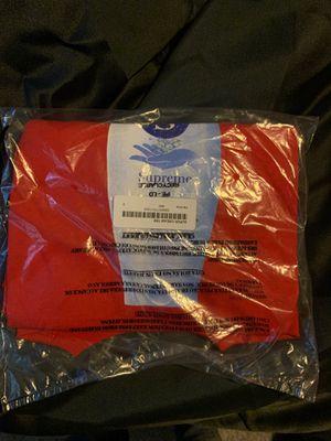 SUPREME SUPER CREAM TEE SIZE SMALL RED BRAND NEW for Sale in Orlando, FL