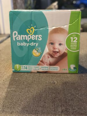 Pampers baby-dry Diapers Size 1 for Sale in Fishers, IN