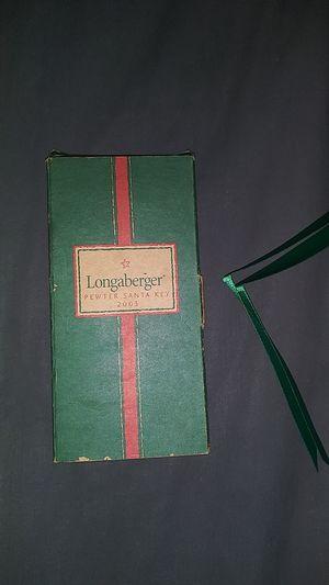 Longaberger Pewter Santa Key 2003 for Sale in Las Vegas, NV