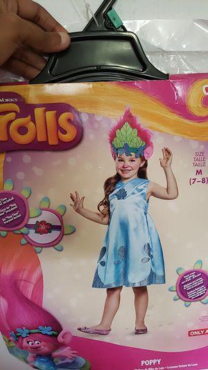 Halloween Costume New poppy trolls size 7 for Sale in Nuevo, CA