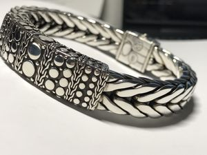 "Xl John Hardly Bracelet 115Gr Sterling Silver will fit up to size 9"" ORIGINAL $1590 for Sale in Miami Gardens, FL"