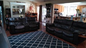 Leatherette couches. for Sale in Fresno, CA