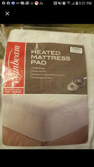 Sunbeam Heated Mattress Pad twin for Sale in Altoona, PA