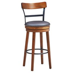 "30.5"" BarStool Swivel Pub Height kitchen Dining Bar Chair with Rubber Wood Legs for Sale in Walnut,  CA"