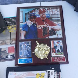 Mark McGwire Sammy Sosa Collectible Plaque for Sale in Lake Wales, FL