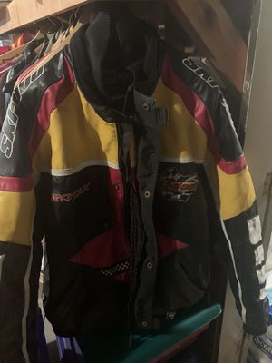 Heavy Leather Ski Doo snowmobile jacket in Great shape! for Sale in Shelby Charter Township, MI