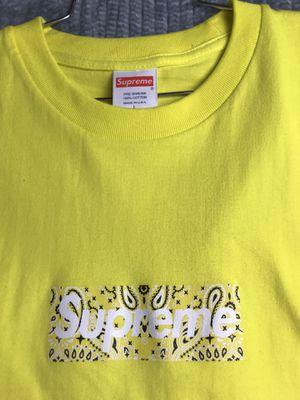 Supreme yellow tee bandana sz L for Sale in Denver, CO