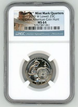 2019 W LOWELL QUARTER 25C GREAT AMERICAN COIN HUNT NGC for Sale in Oakland, CA