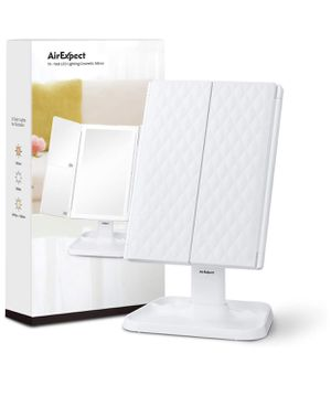 AirExpect TriFold LED Lighting Cosmetic Mirror Battery/USB for Sale in Davie, FL