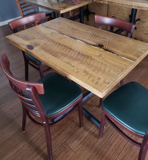 Rustic Table & 4 chairs from Restaurant for Sale in Lafayette, CA