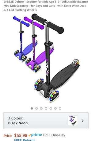 Scooter for Kids Age 3-9 - Adjustable Balance Mini Kick Scooters - for Boys and Girls for Sale in Dover, DE