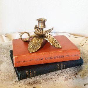 Vintage brass leaf candle holder for Sale in Newberg, OR