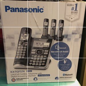 Brand New In The Box Panasonic Cordeless Home Phones Set Of 4 for Sale in Riverside, CA
