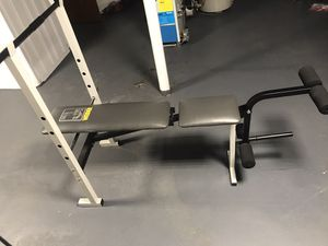 Weight bench with bar for Sale in Highland Park, NJ