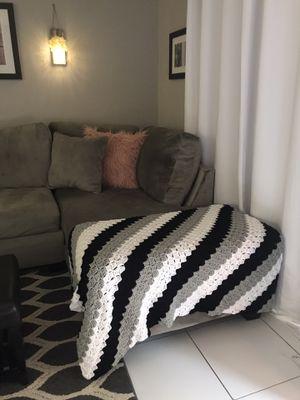 Crochet Blanket/Throw Handmade for Sale in Pembroke Park, FL