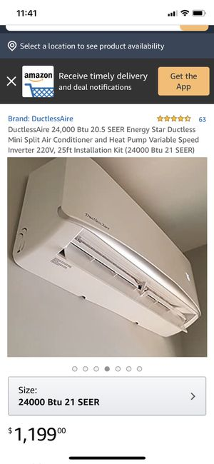 Mini split air conditioner and charger heat pump for Sale in Bakersfield, CA