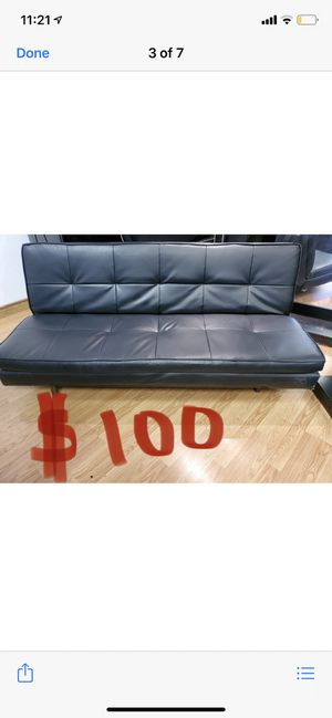 Leather futon. for Sale in Las Vegas, NV