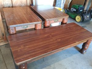Two end tables & coffee table for Sale in Wichita, KS