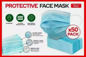 50PCS Disposable 3 layers protective Face Mask for Sale in Midlothian, VA
