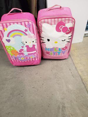 Hello kitty luggage with sleeping bag for Sale in Virginia Beach, VA