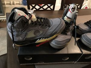 Air Jordan 5 off white for Sale in Tacoma, WA