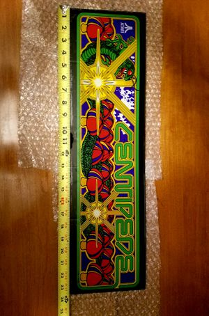 Retro Centapede Glass Arcade Face Plate *FLAWLESS & VIBRANT * for Sale in Orland Park, IL