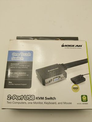 2 port usb kvm switch. Dual computer to monitor for Sale in Boston, MA