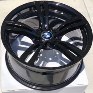 """Brand new 19"""" gloss black BMW style wheels 5x120 all 4 PRICE IS FIRM! for Sale in West Covina, CA"""