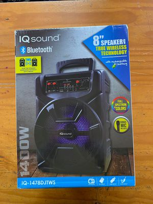 "IQ SOUND 8"" SPEAKER WITH MICROPHONE for Sale in Los Angeles, CA"