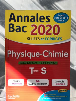 Physique -Chimie. Annales Bac 2020 for Sale in Beverly Hills, CA