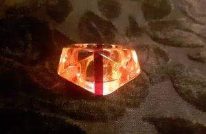 """1950-60 Authentic """"lucy Ring"""" LUCITE STRIPED RING ~ chunky RETRO COOL! From the era!! Original Lucy Ring for Sale in Tacoma, WA"""