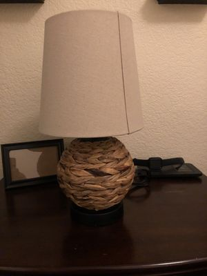 Round Wicker Table Lamp for Sale in Paramount, CA