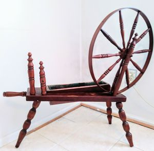Wooden Spinning Wheel Home Decor for Sale in Gaithersburg, MD
