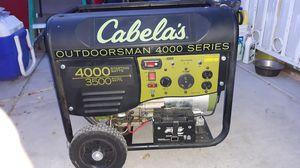 Cabelas outdoorsman 4000 watts remote start generator for Sale in North Las Vegas, NV