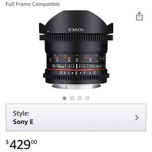 Rokinon manual Fisheye lens For Sony E mount Cameras for Sale in Saint Paul, MN