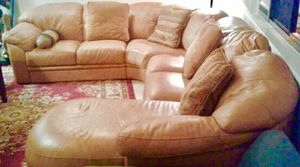 Soft 6- Seat U- shaped Leather Sofa for Sale in Alexandria, VA