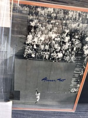 WILLIE MAYS: The Greatest Catch in World Series History: AUTOGRAPHED & Custom FRAMED for Sale in Lafayette, CA