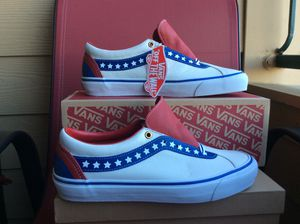 """NEW MEN'S VANS BOLD NI """"AMERICANA"""" LEATHER LOW SNEAKERS (ALL SIZES) 7.5-12 Available for Sale in Lewisville, TX"""