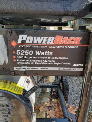 PowerBack 5250 Watt electric generator for Sale in Washington, DC