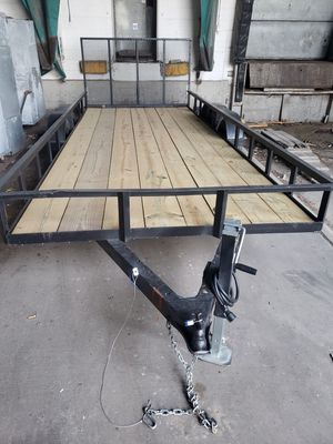 18 x 7 utility trailer NOT NEGOCIABLE for Sale in Lincoln Park, MI