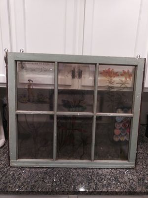 "27 x 31"" vintage Farmhouse stained glass window for Sale in Gaithersburg, MD"
