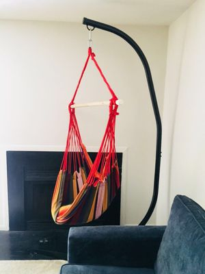 Hanging chair with stand for Sale in Hamilton Township, NJ